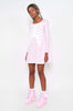 Wishbone Trapeze Dress (Pink)