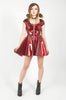 Vinyl Classic Zip Dress (Red)