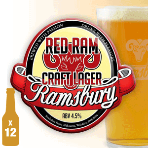 Red Ram Lager - 4.5% ABV