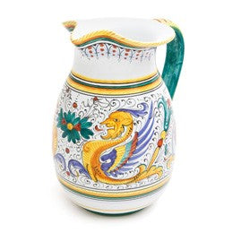 Raffaellesco Pitcher, 2 qt, Biordi dishes, Deruta Pottery, Ceramics, Majolica