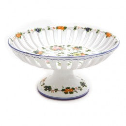 Rosa Fruit Bowl with Pedestal