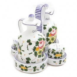 Rosa Salt & Pepper, Oil & Vinegar Set