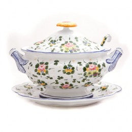 Rosa Soup Tureen with Platter