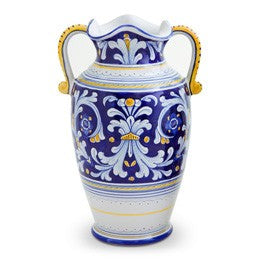 Antico Deruta Vase with Handles