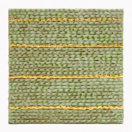 Decorative Tile Tile, Green and Gold