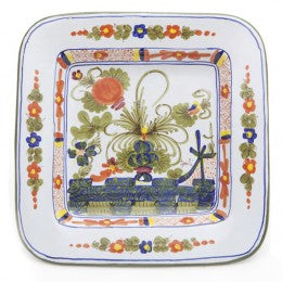 Blue Carnation Square Plate