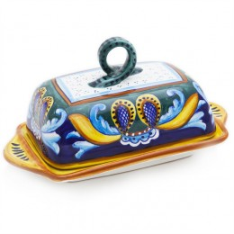 Collectible Majolica B-53 Butter Dish