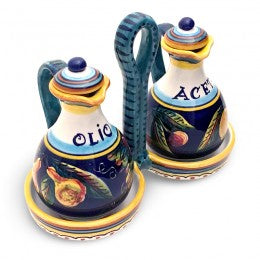 Collectible Majolica B-57 Oil & Vinegar