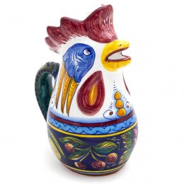 Collectible Majolica Rooster Pitcher B-57