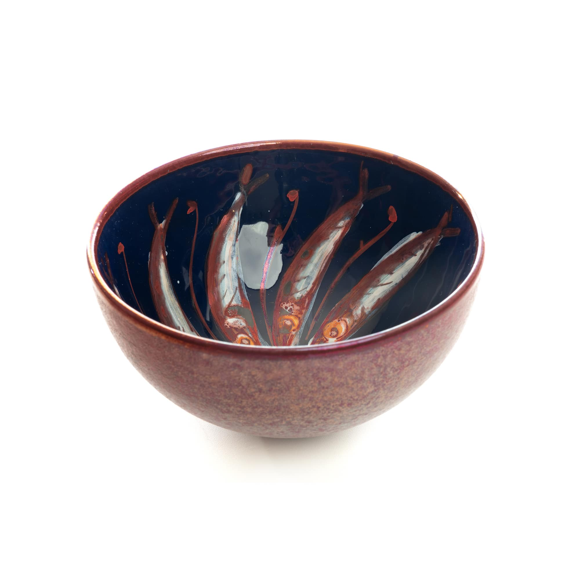 Vignoli Small Bowl with Painted Fish Design 26