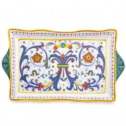 Ricco Deruta Rectangular Tray, Large, Biordi Dishes, Italian Ceramics, Majolica Pottery, Italian Dinnerware