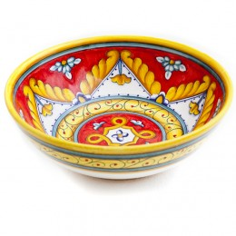 Ricamo Rosso Red Vegetable Bowl