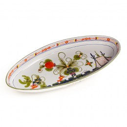 Blue Carnation Deep Large Oval Platter