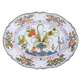 Blue Carnation Platter, Medium