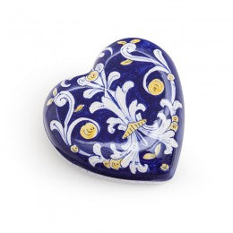 Antico Deruta Heart Jewelry Box