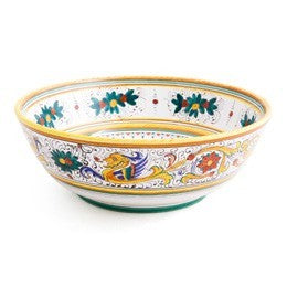 Raffaellesco, Salad, Bowl, Biordi dishes, Italian Ceramics, Deruta Pottery, Majolica