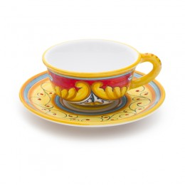 Ricamo Rosso Coffee cup and saucer