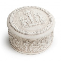 White Antique Classical Figure Inspired Jewelry Box 1