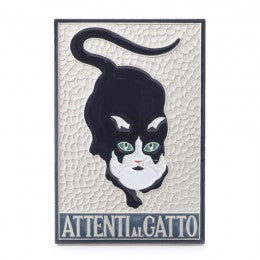 Decorative Tile Attenti al Gatto tile