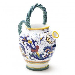 Ricco Deruta Pitcher with twisted handles