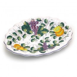 Frutta Frutta Shallow Scallop Oval Bowl
