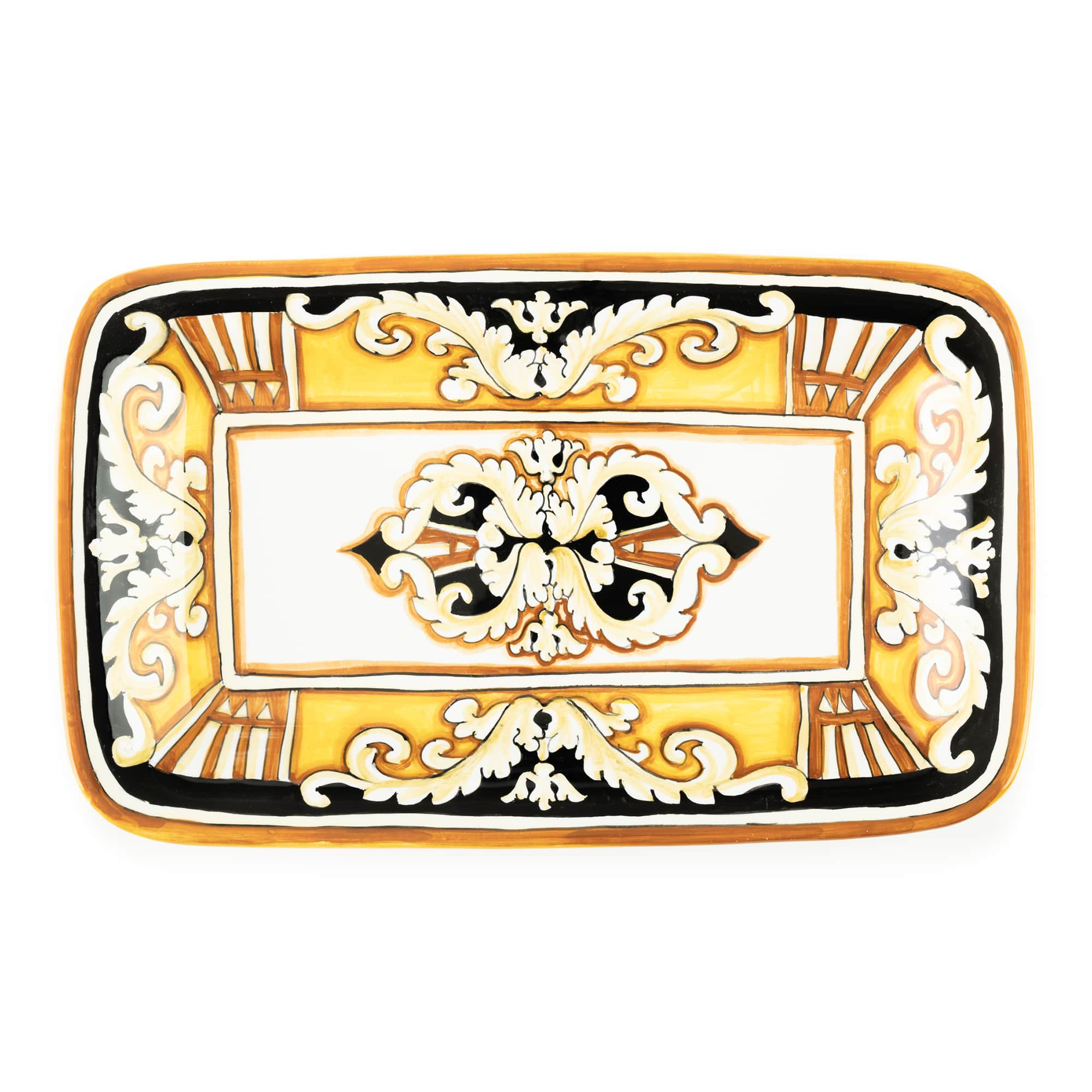 Pia Nero e Oro Rectangular Tray