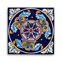 Collectible Majolica Tile, Pattern B
