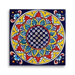 Collectible Majolica Tile, Pattern C