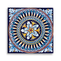 Collectible Majolica Tile, Pattern E