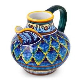 Collectible Majolica Tuscan Pitcher B-61