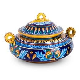 Collectible Majolica Biscotti Jar