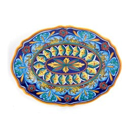 Collectible Majolica Platter, Pattern B-64