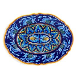 Collectible Majolica Large Platter, Pattern B-33