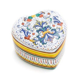 Ricco Deruta Heart Jewelry Box