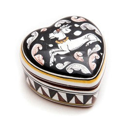 Siena Jewelry Box, Biordi dishes, Italian Ceramics, Heart-Shaped, Italian Dinnerware, Italian Pottery, Deruta, Majolica
