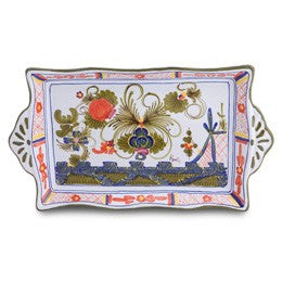 Blue Carnation Rectangular Tray