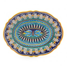 Collectible Majolica Large Platter, Pattern B-40