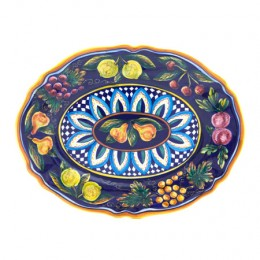 Collectible Majolica Large Platter, Pattern B-57
