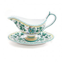Orvieto Gravy Boat with Attached Tray