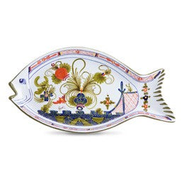 Blue Carnation Fish Platter
