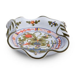 Blue Carnation Twisted Handle Tray