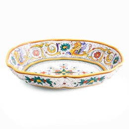 Raffaellesco, Oval Bowl, Biordi Dishes, Italian Ceramics, Majolica pottery