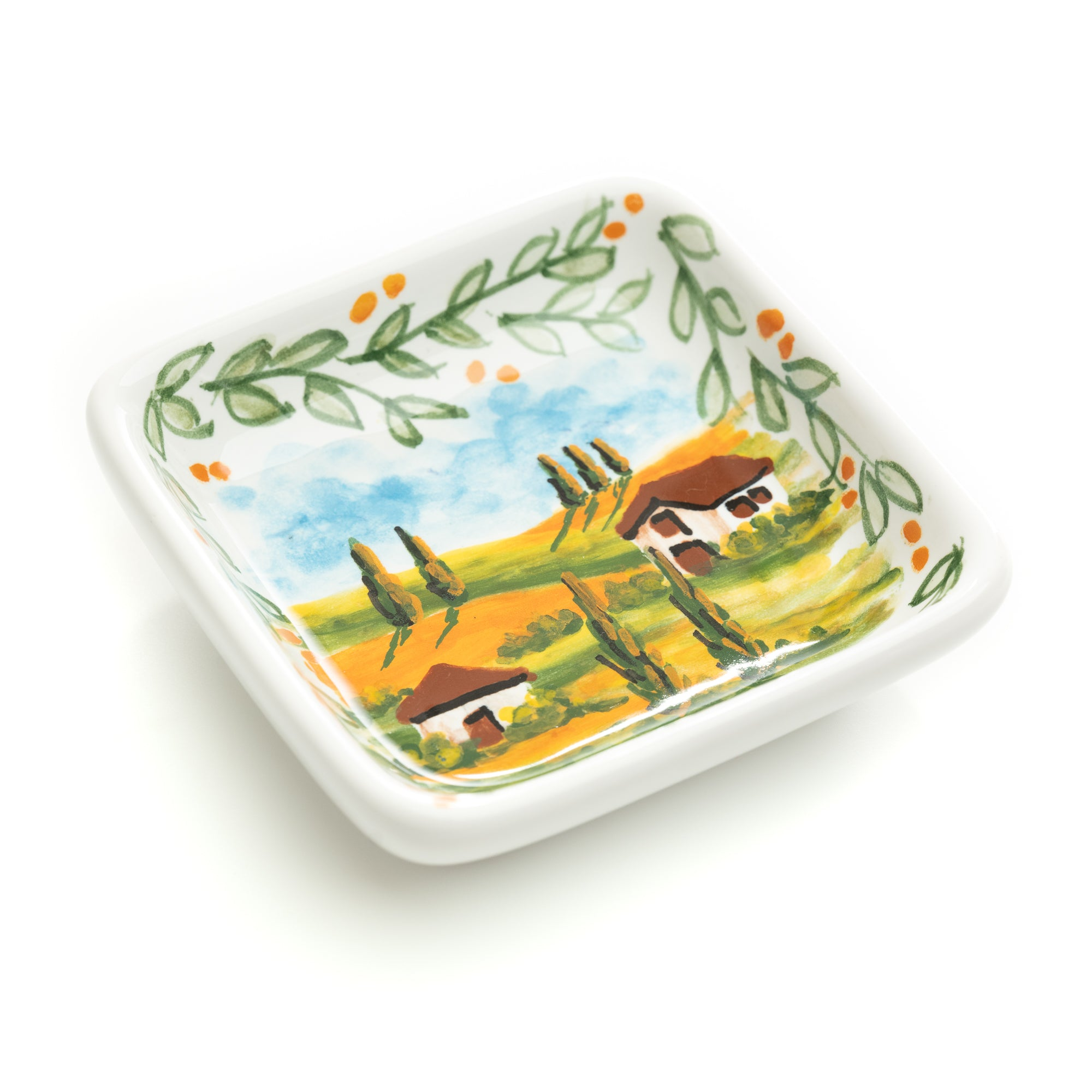Tuscan Countryside Small Square Bowl