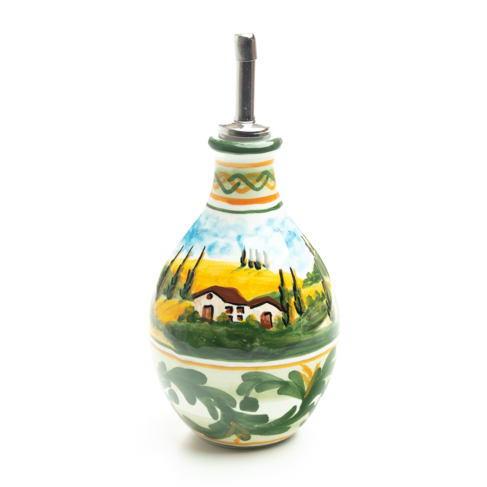 Tuscan Countryside Olive Oil Jar