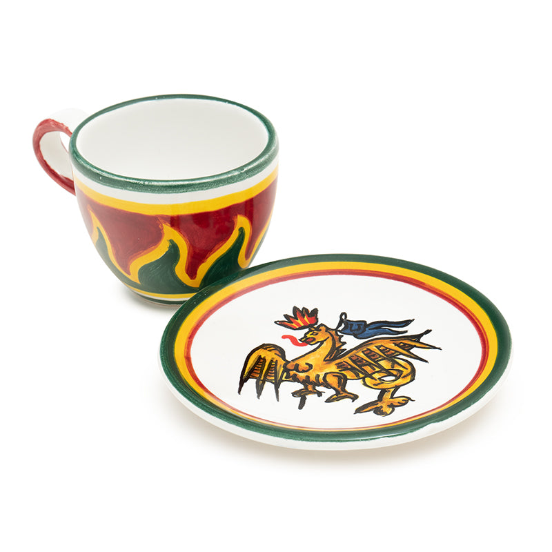 Contrade Dragon Dinnerware From Siena
