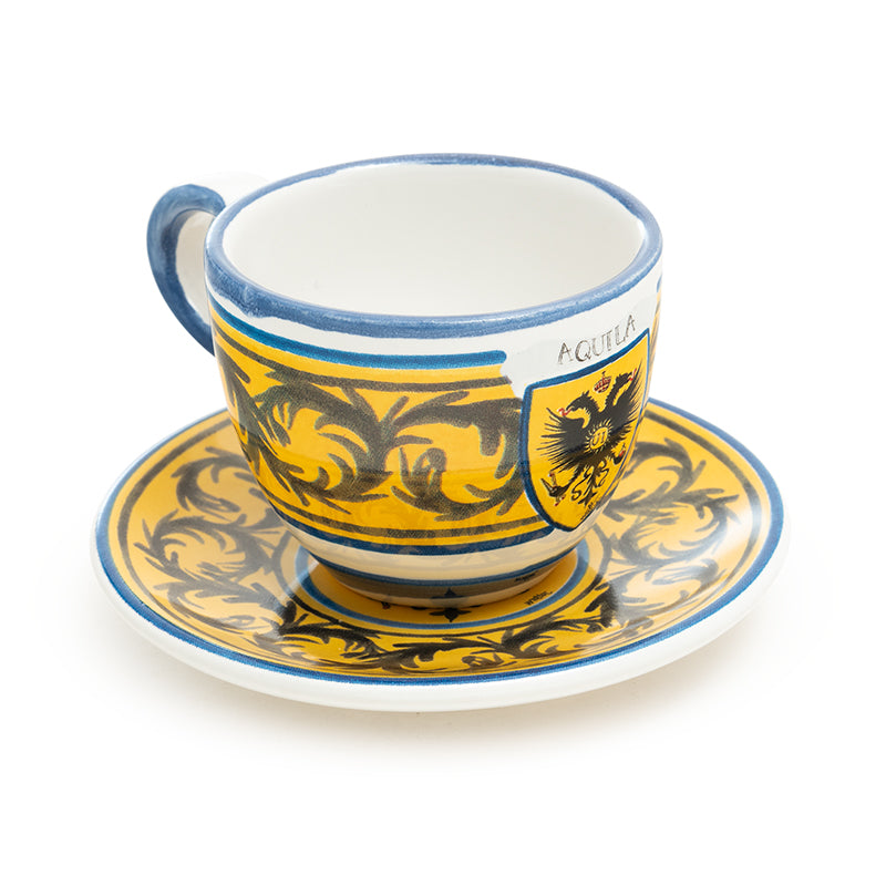 Contrade From Siena, Eagle Espresso Cup and Saucer