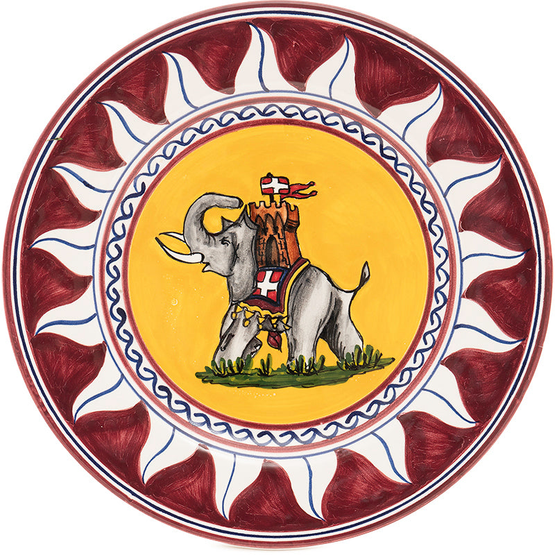 Contrade Elephant Dinnerware From Siena