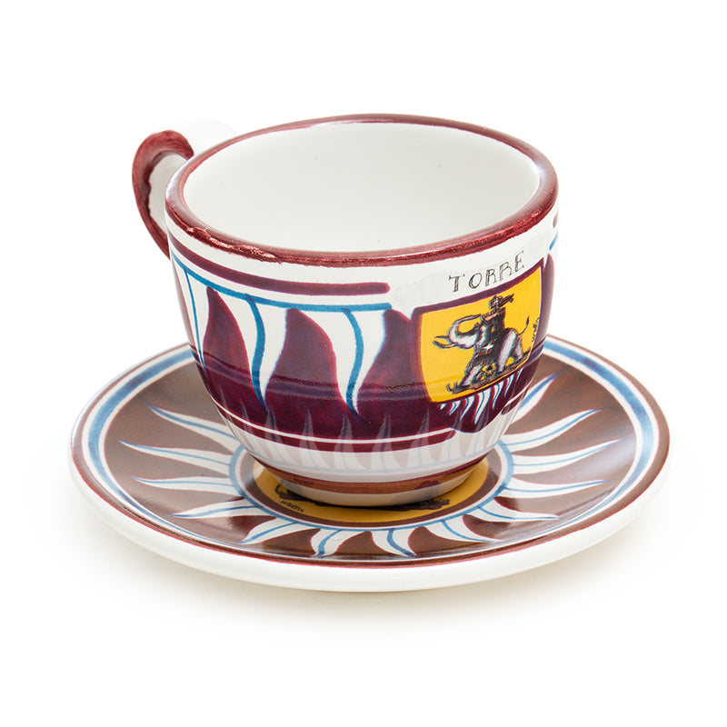 Contrade From Siena, Elephant Espresso Cup and Saucer