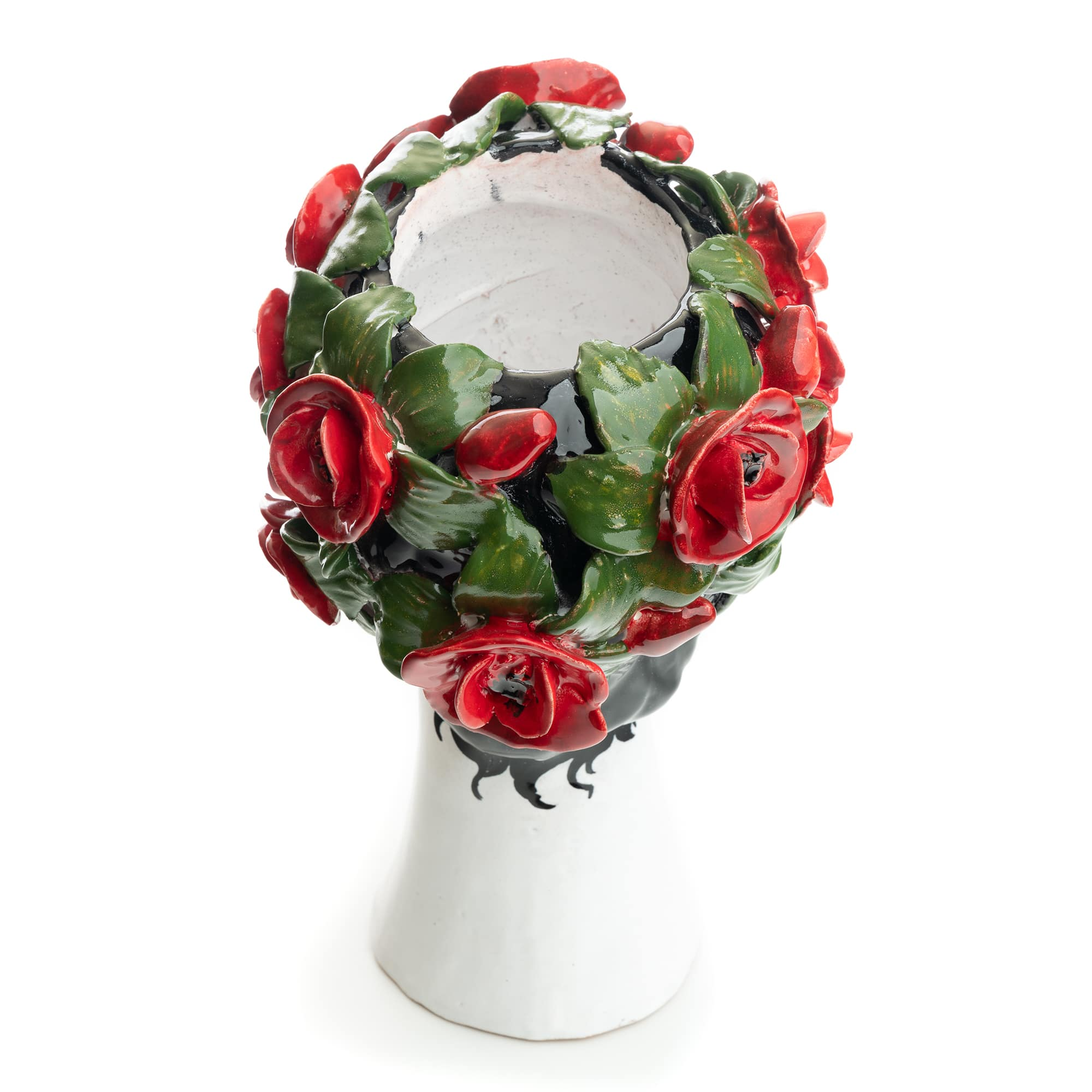 Ceramiche D'arte Dolfi Sculpture with Roses