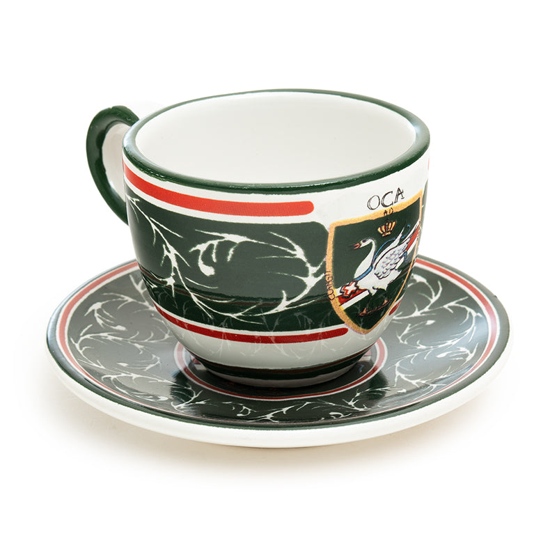 Contrade From Siena, Goose Espresso Cup and Saucer